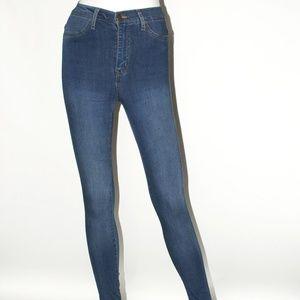 Classic High-Waist Skinny Jeans